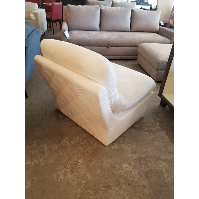 Cream Lounge Slipper Chair For Sale - Image 4 of 10