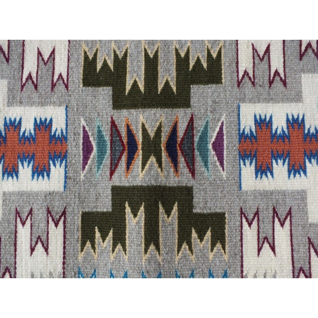 """Textile Navajo Rug Storm Pattern, Lily Touchin -- 2'10"""" x 4'2"""" For Sale - Image 7 of 10"""