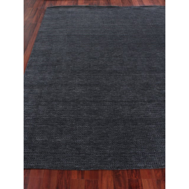 Contemporary Exquisite Rugs Worcester Handwoven Wool Charcoal - 10'x14' For Sale - Image 3 of 6