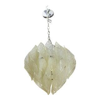 Mid-Century Modern Kalmar Style Pendant Chandelier in Folded Acrylic For Sale