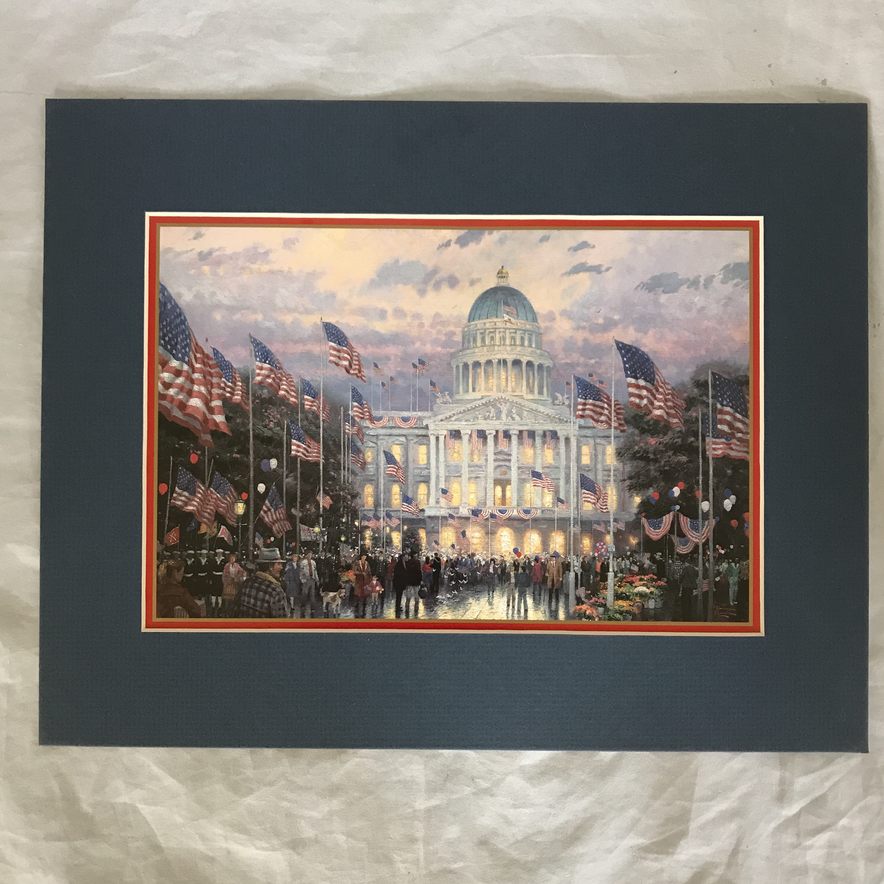 Authentic U201cFlags Over The Capitolu201d Thomas Kinkade Print For Sale   Image 5  Of