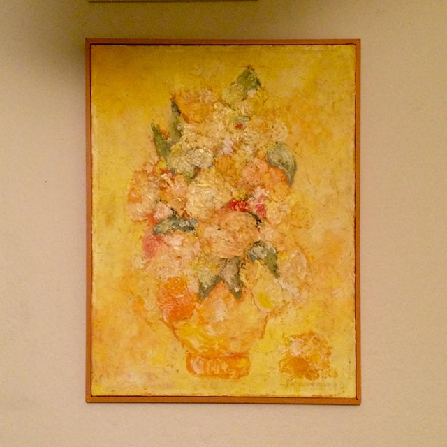 Floral Impressionist Painting Signed Bernheim - Image 2 of 8