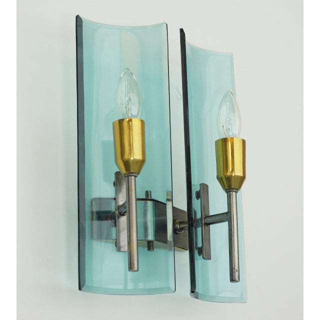 1960s Cristal Arte Beveled Sconces (3 Available) For Sale - Image 5 of 12