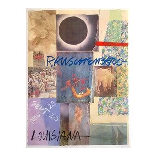 "Robert Rauschenberg Rare Vintage 1980 Lmtd Edtn Lithograph Print "" Louisiana "" Denmark Exhibition Poster For Sale"