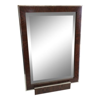Contemporary Modern Vanity Mirror on Stand For Sale