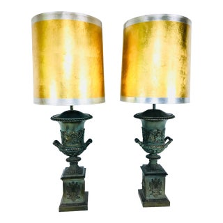 Mid-Century Classical Urn Lamps – a Pair For Sale