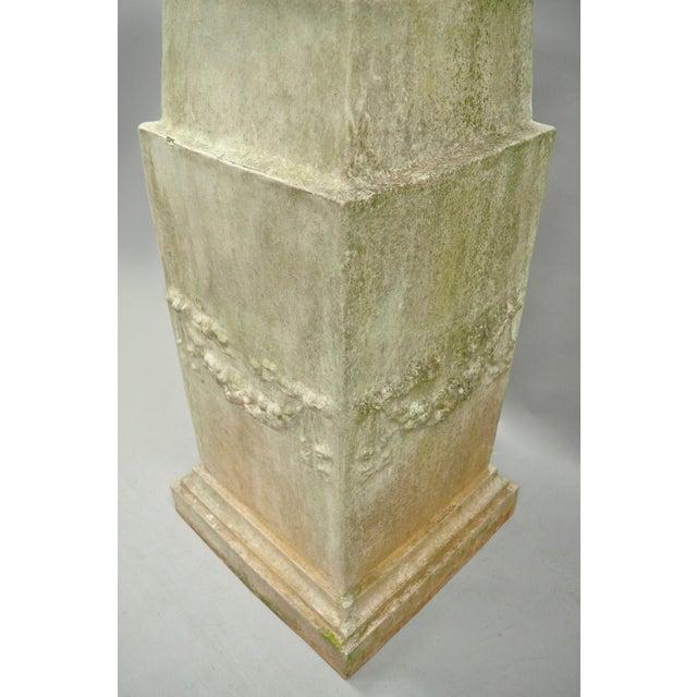 Fiberglass Garden Pedestal Water Fountain For Sale - Image 7 of 13