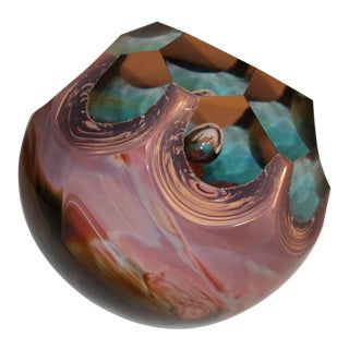 Loredano Rosin Massive Chalcedony Glass Sculpture of a Paperweight