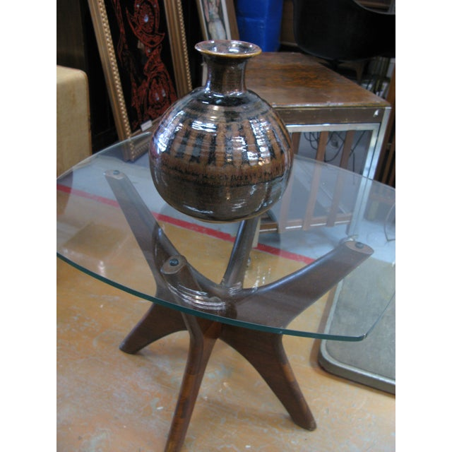 1976 Mid-Century Pottery Vase For Sale - Image 10 of 11