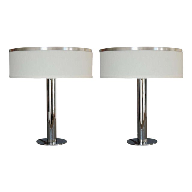 Pair of American Table Lamps For Sale