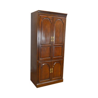 Drexel Heritage Vintage Cherry Tall Entertainment Cabinet