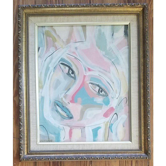 Abstract Beth Downey Abstract Face Painting For Sale - Image 3 of 3