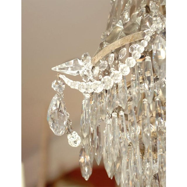 1900 - 1909 1900s Crystal Chandelier For Sale - Image 5 of 7