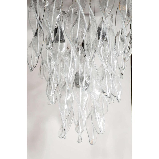 Italian Italian Handblown Murano Glass Vortex Chandelier For Sale - Image 3 of 6