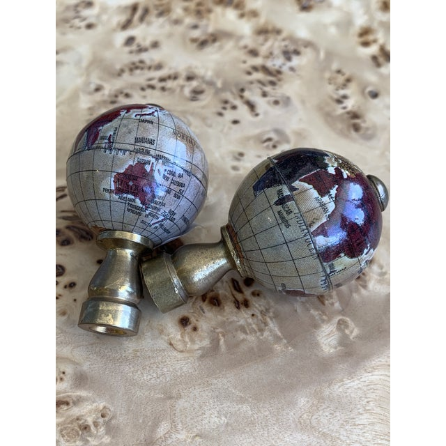 Mid 20th Century Vintage Globe Finials - a Pair For Sale - Image 5 of 7
