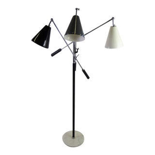 1960s Mid-Century Modern Triennale Articulating Arms Floor Lamp For Sale