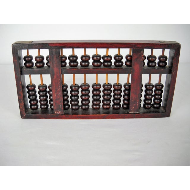 Metal Asian Brass Wood Abacus For Sale - Image 7 of 8