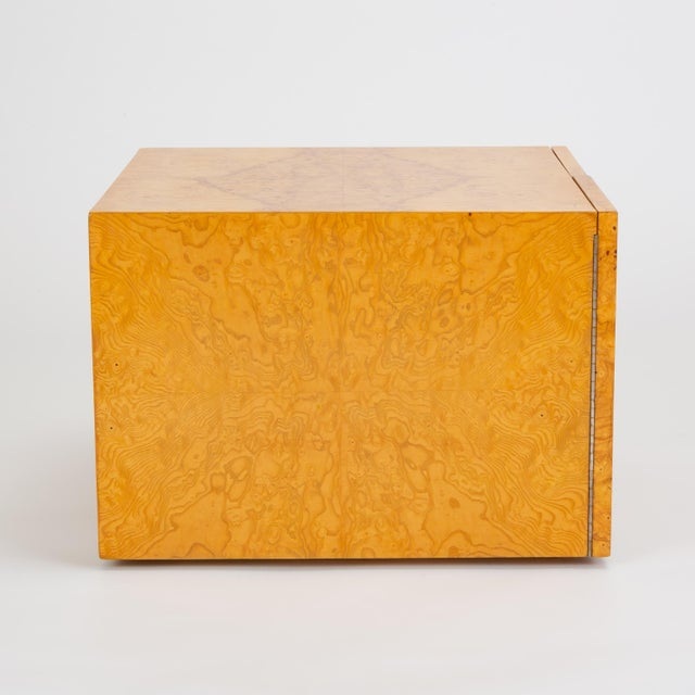 Pair of Burl Wood Side Tables or Blanket Chests For Sale In Los Angeles - Image 6 of 11