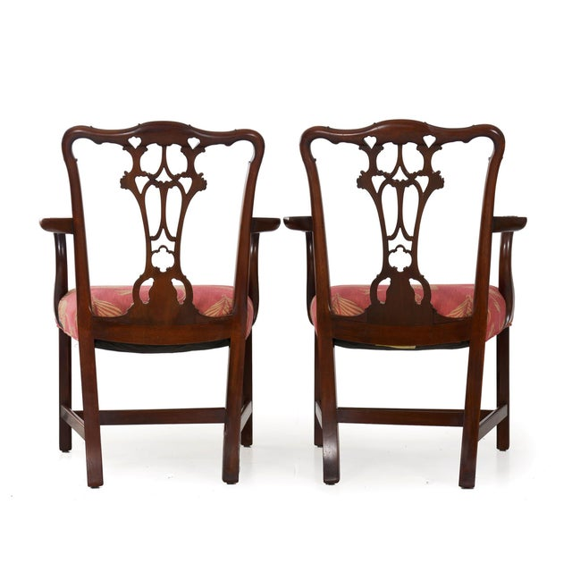 20th Century English Antique Carved Mahogany Dining Chairs - Set of 6 For Sale - Image 4 of 13