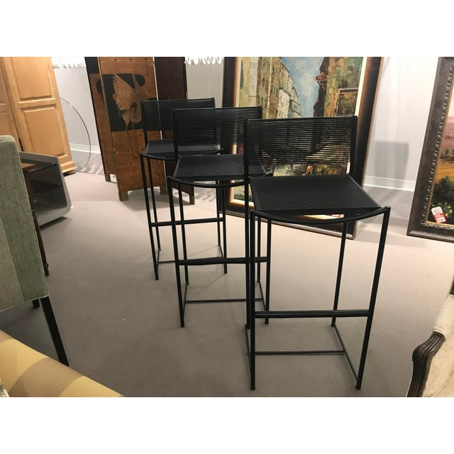 Mid Century Style Italian Bar Stools - Set of 3 For Sale In Detroit - Image 6 of 6