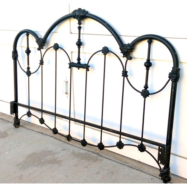 Vintage Wrought Iron Queen Headboard & Footboard - Image 10 of 10