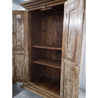 Vintage Reclaimed Wood Armoire Storage Cabinet Preview