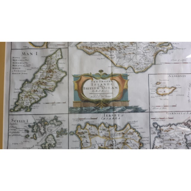 The Smaller Islands British Ocean by Rob Morden sold by Able Swale and John Churchill. Circa 1685. The map shows Guernsey,...