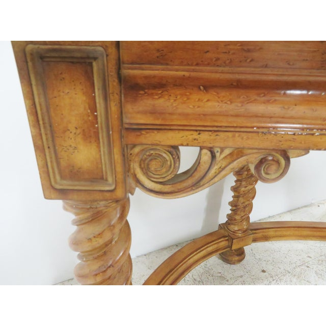 Italian Style Faux Painted Demilune Desk - Image 6 of 10