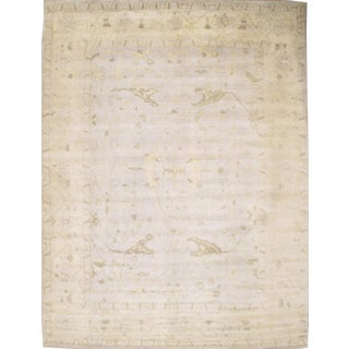 Pasargad Turkish Oushak Design Hand-Knotted Rug - 11′9″ × 15′7″ For Sale