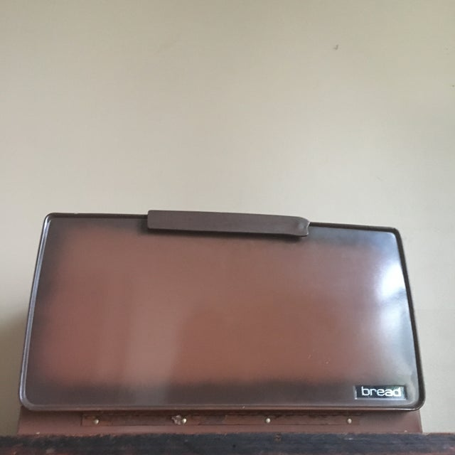 Vintage Metal Breadbox For Sale - Image 4 of 11