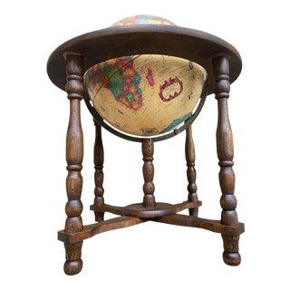 Danish Walnut Illuminated Floor World Globe For Sale