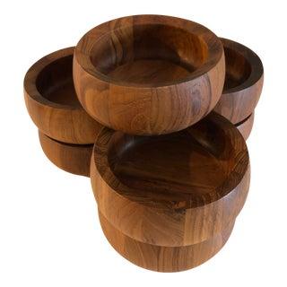 Danish Teak Dansk Jhq Bowls - Set of 8 For Sale