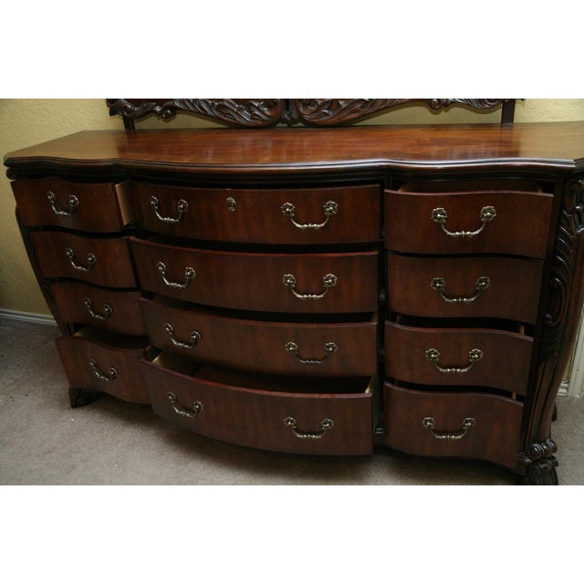 Contemporary Louis XV Style Dresser With Mirror - Image 8 of 9