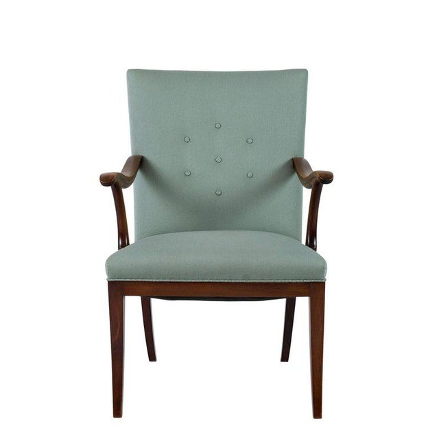 Mid-Century Modern Frits Henningsen Lounge Chair For Sale - Image 3 of 8
