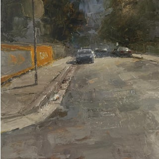 "Beckham Contemporary Artchitectural Painting ""Side Street Miami"" For Sale"