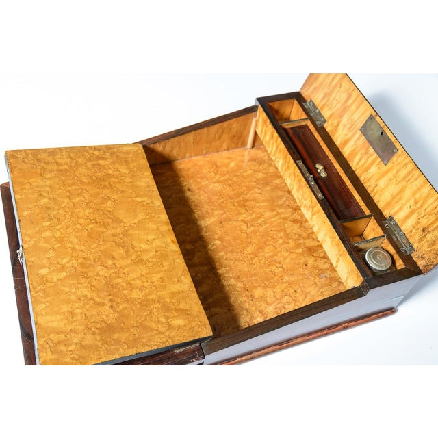 Mid 19th Century Mid 19th Century Vintage Rosewood & Mother Pearl Writing Slope Box For Sale - Image 5 of 10