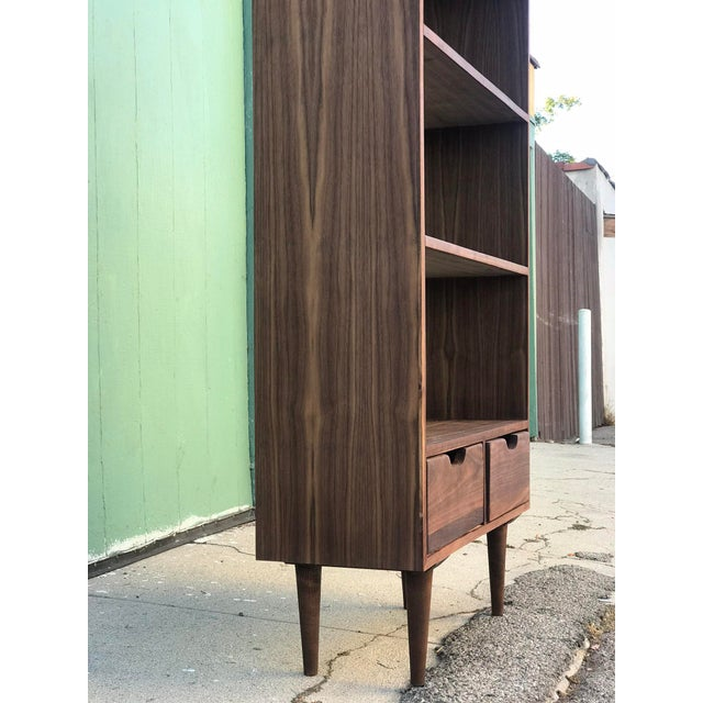 Contemporary Custom Mid Century Style Bookcase For Sale - Image 3 of 8