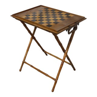 French 19th Century Tray Table or Game Table For Sale