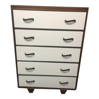 Vintage White Highboy Dresser