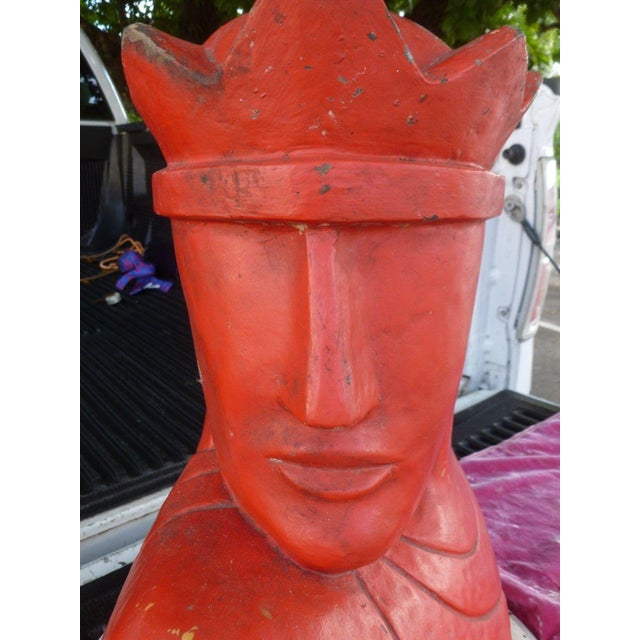 1940's Vintage Large Art Deco Style Knight Chess Piece Model For Sale In Miami - Image 6 of 8