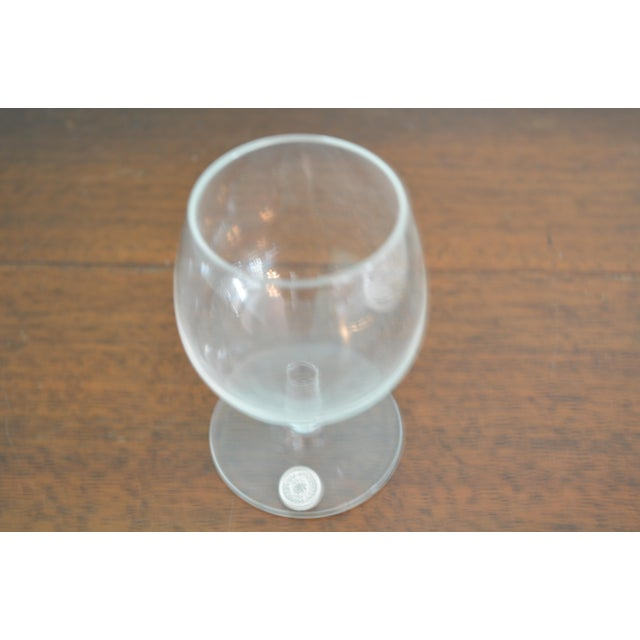 1980s Vintage Val St-Lambert Cordial Glasses & Drinks Tray, 7 Pieces For Sale - Image 5 of 10
