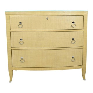 Thomasville Grasscloth Chest of Drawers For Sale