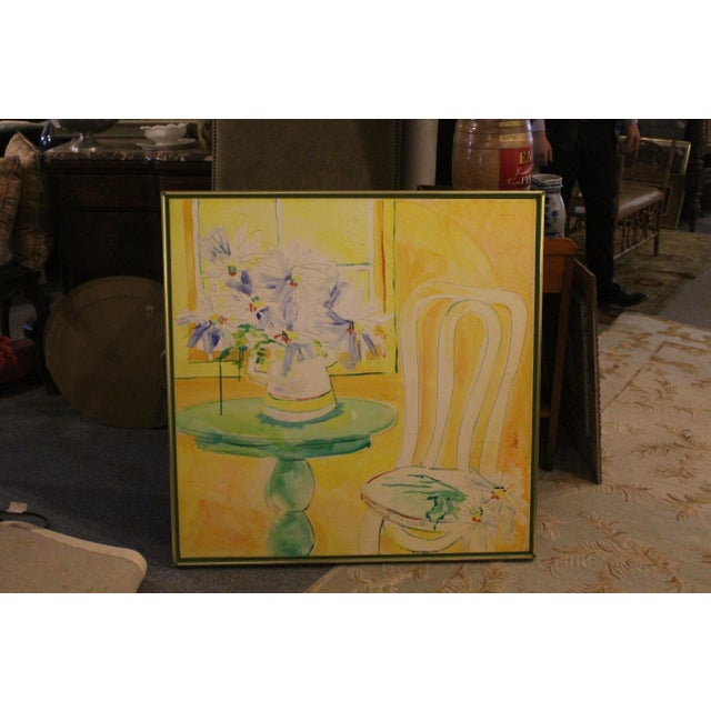 Vintage Mid-Century Yellow Still Life Painting For Sale - Image 11 of 12