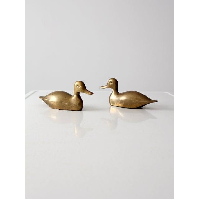 Mid-Century Brass Ducks - Pair - Image 2 of 9