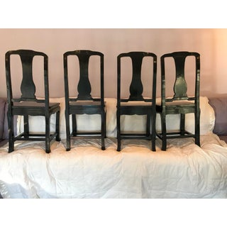 Vintage Asian Black Laminated Dining Set - 5 Pieces Preview