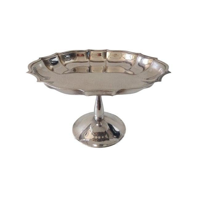 Vintage Silver-Plated Footed Bon-Bon Server Dish For Sale