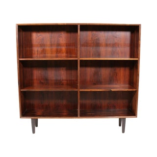 Mid Century Danish Rose Wood Bookcase For Sale