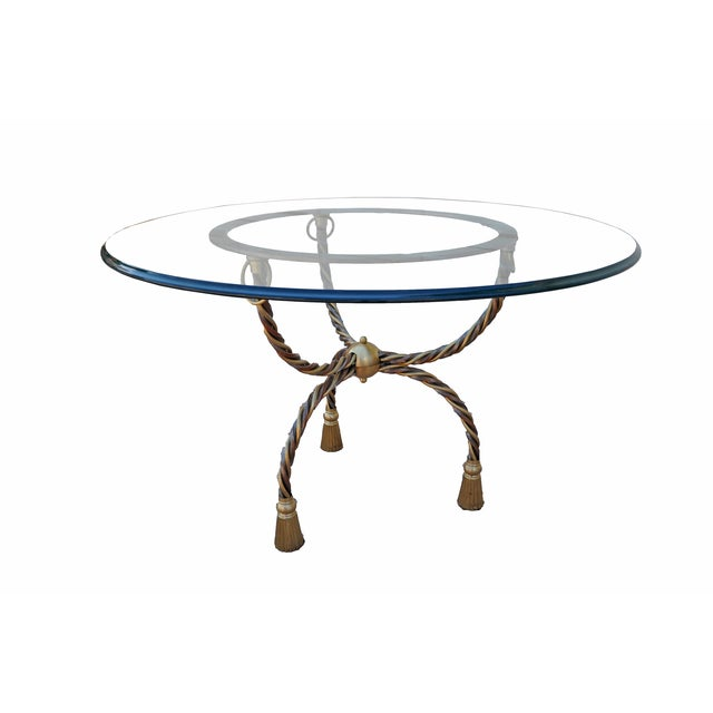 Italian Brass & Chrome Dining Table - Image 2 of 3