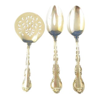 Vintage Gorham Sterling Silver Strasbourg Spoon Set of 3 For Sale