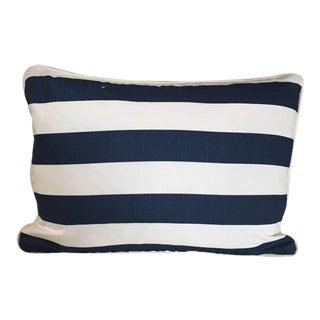 Kim Salmela Navy/White Stripe Pillow